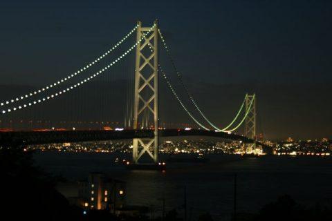 明石大橋 ライトアップ