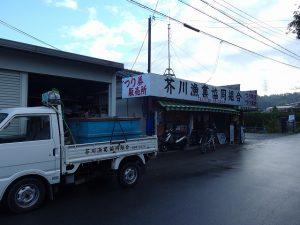 芥川管理釣場 テンカラでニジマス釣り
