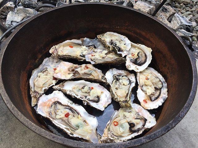 牡蠣 オリーブオイル にんにく