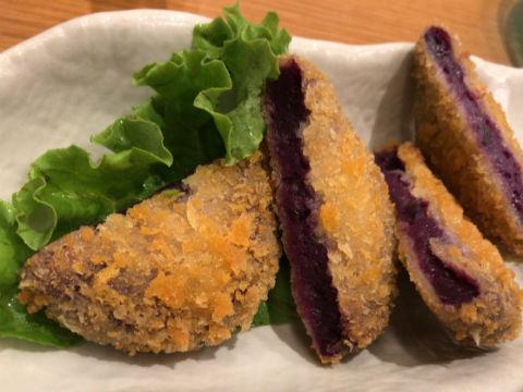 沖縄料理しーさ 紅芋コロッケ